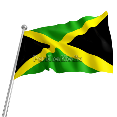 3d model of jamaica flag on