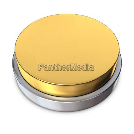 boton redondo de plata con el