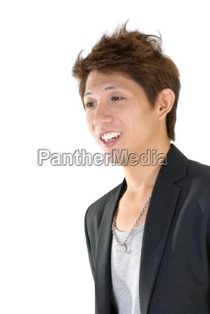 smiling young executive