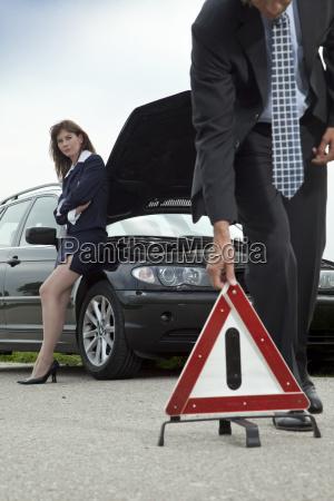 woman danger car automobile vehicle means