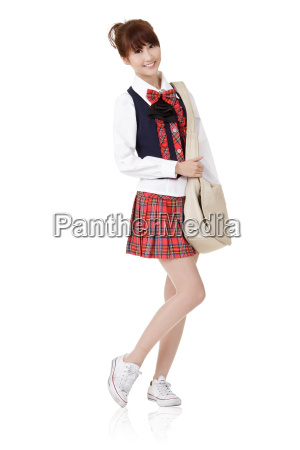 cute school student girl