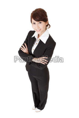 confident asian office lady