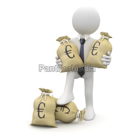 euros hombre de negocios eur hundimiento