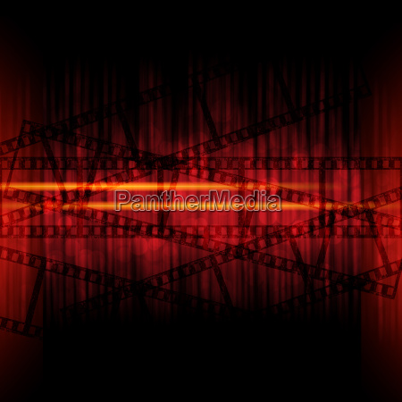abstract background with filmstrips