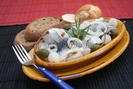 comida pescado piscis arenque buffet bocadillo