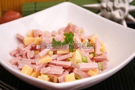 comida queso carne salchicha