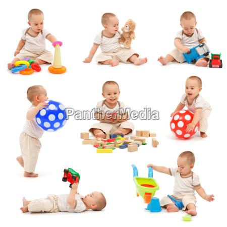 collage de un ninyo pequenyo jugando