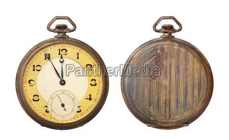 antiguo reloj de bolsillo antiguo aislado