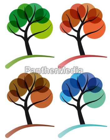 arbol de cuatro estaciones