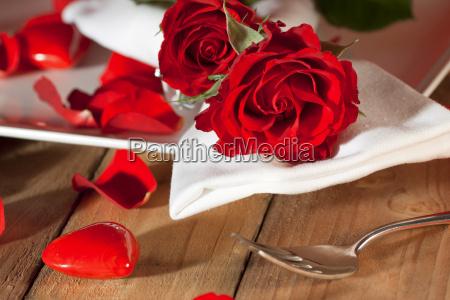 configuracion de lugar con las rosas
