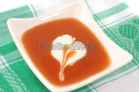 tomato soup with cream sticks