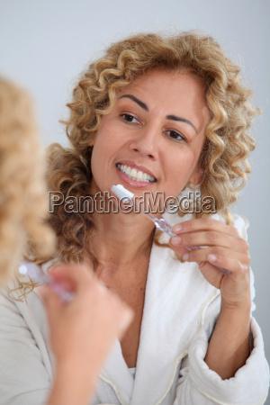 mujer hermoso bueno salud dientes caucasico