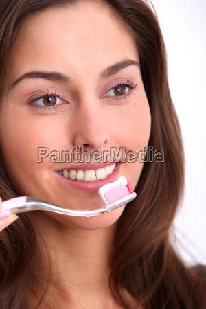 mujer risilla sonrisas hermoso bueno primer