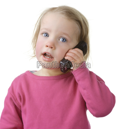 child with telephone