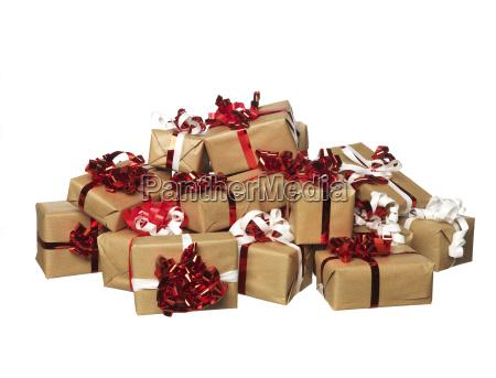 regalos de navidad en un manojo