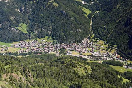ciudad dolomitas valle ver fregadero pueblo