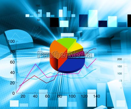 grafico ilustracion pastel tortas financiero informe