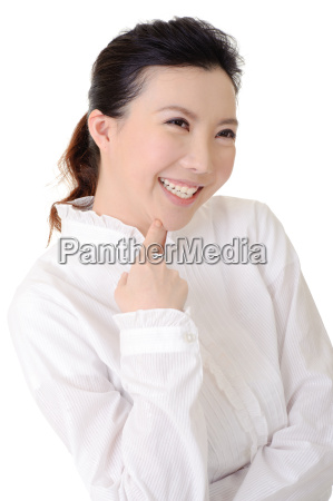 cheerful business lady