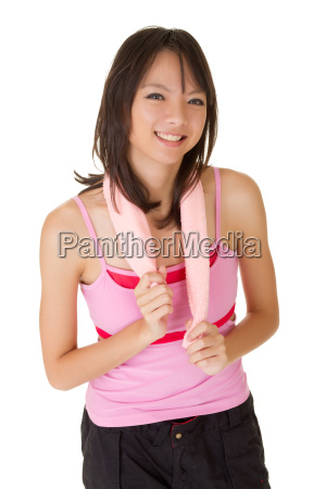happy smiling girl of fitness