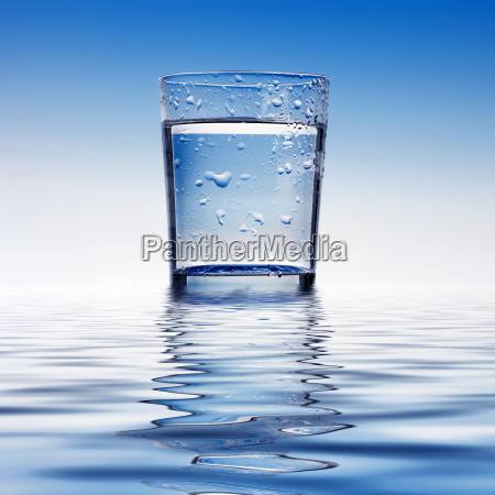 azul vidrio vaso beber bebida liquido