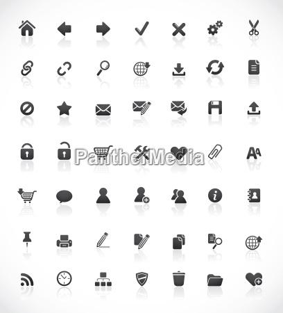 los iconos web y de oficina