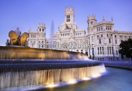 plaza de cibeles madrid espanya