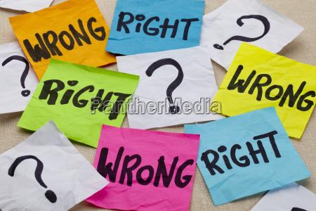 pregunta etica incorrecta o correcta