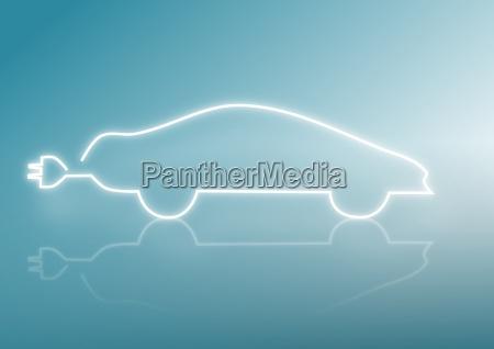 silueta de un coche conceptos energeticos