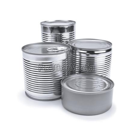 comida liberado plata metal aislado puede