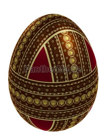 huevo ornamentado aislado