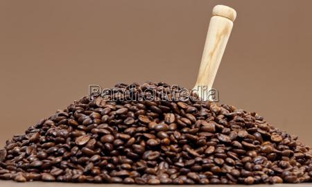 bodegon de granos de cafe