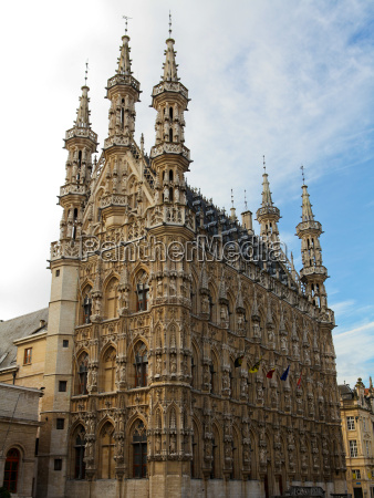 famous gothic town hall of leuven