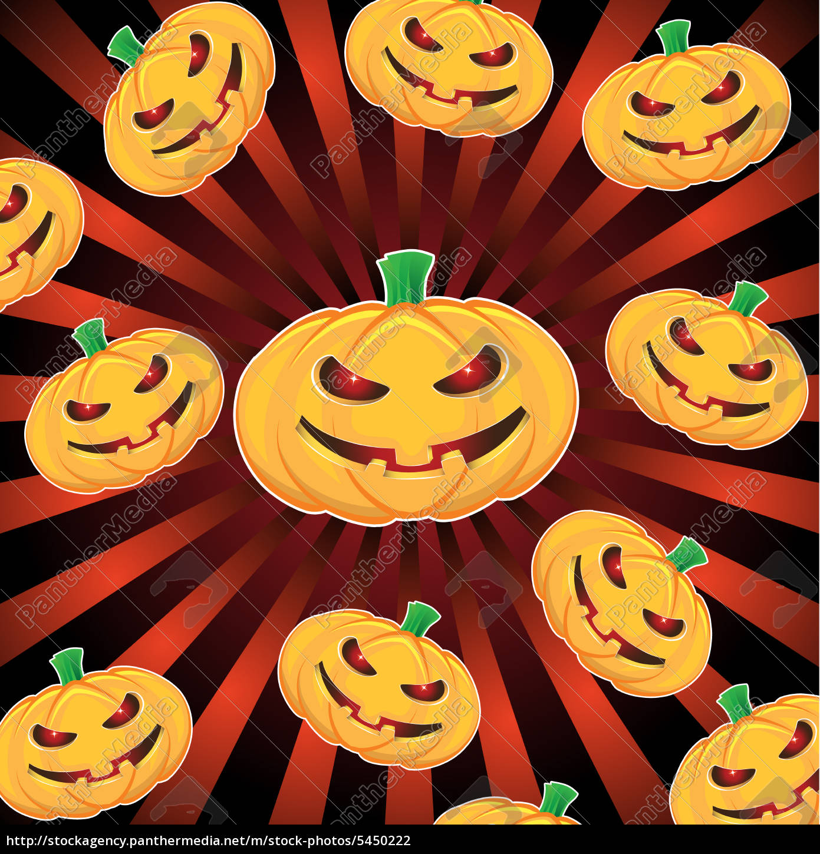 calabazas, de, halloween, con, fondo, de - 5450222
