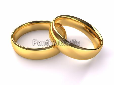 anillos de oro de la boda