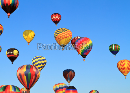 coloridos, globos, de, aire, caliente - 5462864