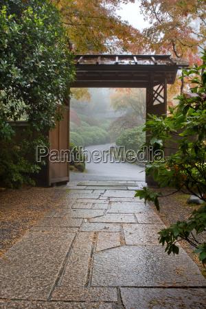 stone path in japanese garden