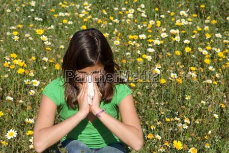 nariz fiebre de heno ninyo estornudar