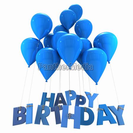feliz cumpleanyos con los globos azules