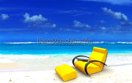 relaxing sofa on the beach