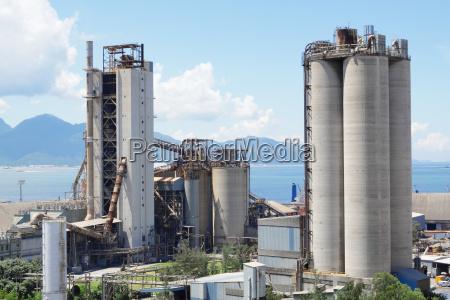 planta del cemento fabrica del concreto