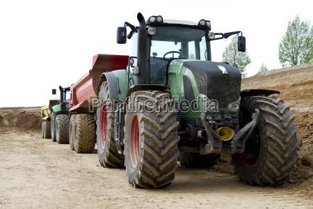agricola rueda remolque tractor de goma