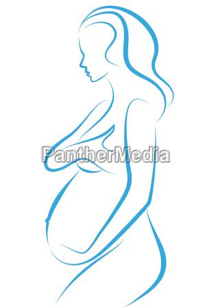 dibujo de mujer embarazada