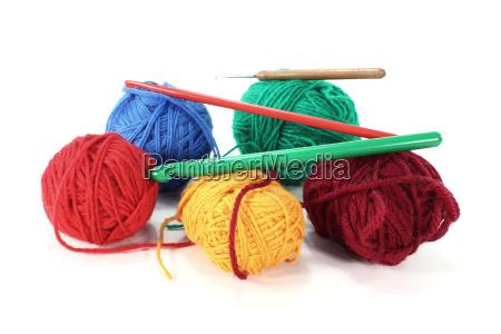 lana tejer el trabajo manual ovillo
