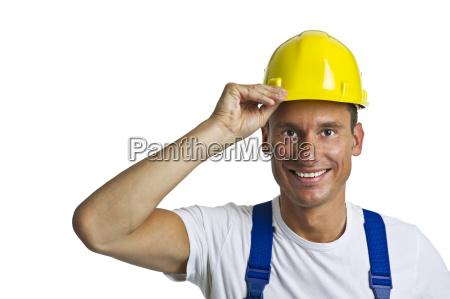 trabajador de la construccion con casco