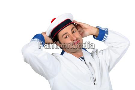 azul risilla sonrisas ocio navegacion sombrero