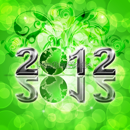 2012 feliz anyo nuevo globo mundial