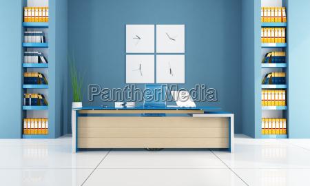 oficina contemporanea azul