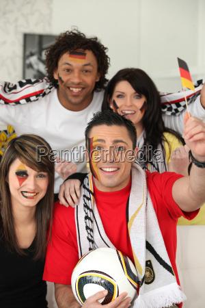 aficionados al futbol aleman