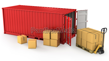 trafico contenedor carga envio transporte a