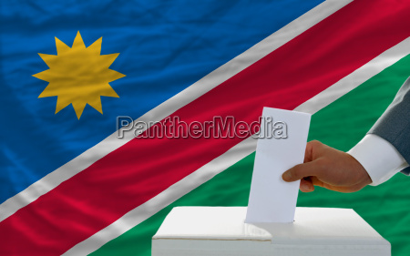 man voting on elections in namibia